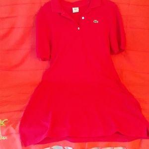 Lacoste polo dress pink sz 42 (US12)